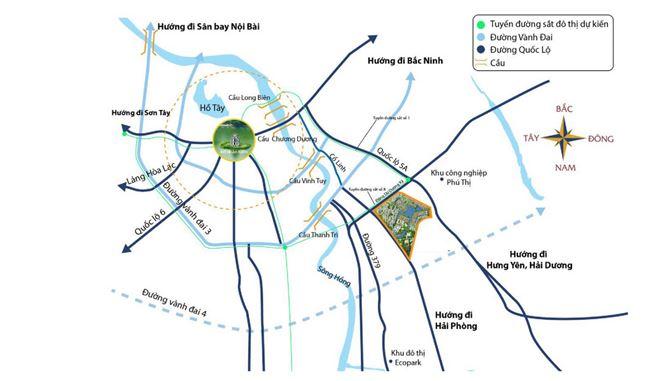 Khả năng liên kết vùng tại vị trí Vinhomes Ocean Park