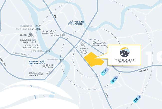 Lợi thế quy hoạch giao thông đồng bộ cho vị trí Vinhomes Ocean Park